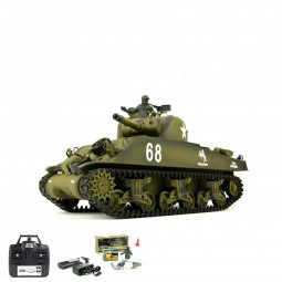 RC ferngesteuerter Panzer US M4A3 Sherman mit Schuss, Sound, Rauch, Tank Neu OVP