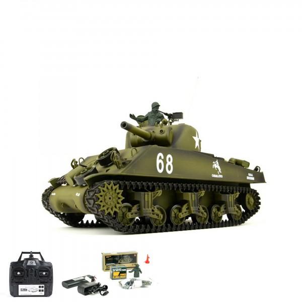 rc ferngesteuerter panzer us m4a3 sherman mit schuss. Black Bedroom Furniture Sets. Home Design Ideas