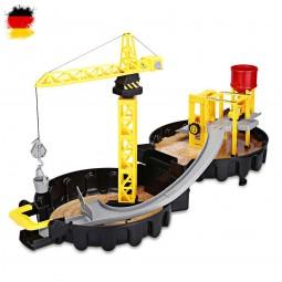 Kinder Baustellen Spielzeug-Set im Koffer Design, Bagger, Baustelle, Neu OVP