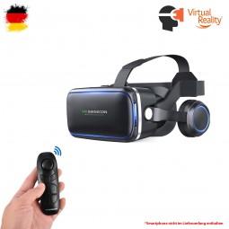 VR-3D Brille mit Headset und Bluetooth-Controller, Virtual Reality für 4.7 bis 6 Zoll Smartphones