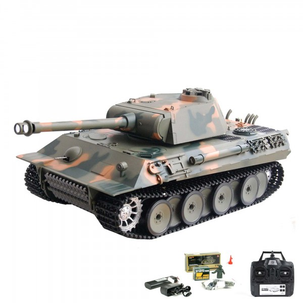 rc ferngesteuerter panzer german panther mit schuss sound. Black Bedroom Furniture Sets. Home Design Ideas
