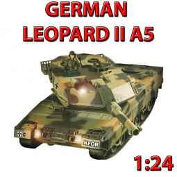 German Leopard II A5 Airsoft - RC ferngesteuerter Panzer mit Schuss/Beleuchtung Inkl. viel Zubehör