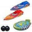 2x RC ferngesteuerte Speedboote mit aufblasbarem Poolbecken, Boot, Modellbau, Neu