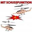 2 x 3,5 Kanal RC Cobra AH-1 Apache Hubschrauber Ferngesteuert + Schuss