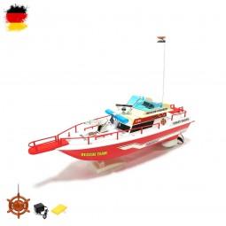 RC ferngesteuerte Küstenwache, Polizei-Boot, Feuerwehr-Schiff, Modell mit Akku und Ladekabel