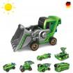 7 in 1 Roboter Konstruktions-Set mit Solar-Antrieb oder Akku, Bagger, Auto, Bus, Kreatives Spielzeug