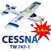 CESSNA 2,4Ghz - RC Training Flugzeug Trainer Modellbau! 2,4 GHz-Modell!