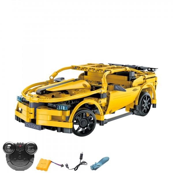 rc ferngesteuerter sportwagen aus bausteinen mit. Black Bedroom Furniture Sets. Home Design Ideas