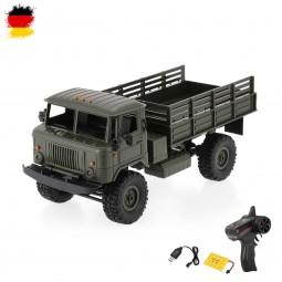 RC ferngesteuertes Militär Fahrzeug mit Akku und Ladekabel, Auto, Truck, LKW Modell mit 2.4GHz, 1:16