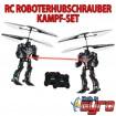 Kampf-Set - 2 x RC ferngesteuerter Roboter-Hubschrauber Helikopter,Neu
