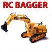 RAUPENBAGGER - RC Baustellenfahrzeug mit schwenkbarer Schaufel - 1:45 Maßstab! ferngesteuertes Model
