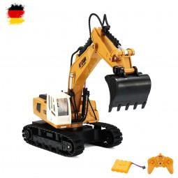 RC ferngesteuerter Raupen-Bagger, Baustellen-Fahrzeug mit Akku und Fernsteuerung mit 2.4GHz-Technik