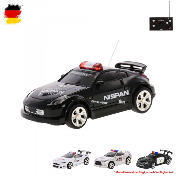 rc ferngesteuertes polizei mini fahrzeug mit led auto mit. Black Bedroom Furniture Sets. Home Design Ideas