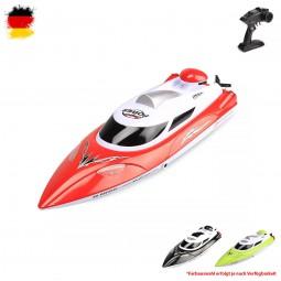 RC ferngesteuertes Renn-Boot, Schiff Racing Speedboot mit Top-Speed von 35km/h, Modellbau mit Akku