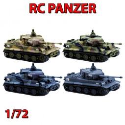 RC ferngesteuerter Tiger I, Panzer-Modell, Militär-Fahrzeug mit Kampf-Modus im 1:72 Maßstab, Tank