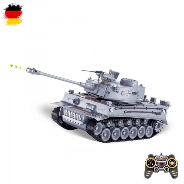 rc ferngesteuerter german tiger i panzer mit akku und. Black Bedroom Furniture Sets. Home Design Ideas