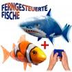 Mega-Set mit RC Ferngesteuerten fliegendem Clownfisch und Haifisch im Duo-Set,Ballon-Fisch mit Motiv