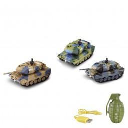RC ferngesteuerter German Leopard 2A6 Panzer mit Kampf-Modus 1:77, Neu