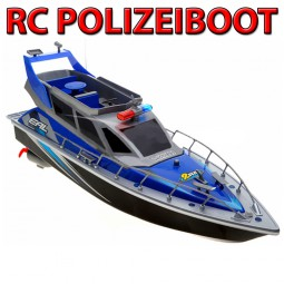 polizeiboot rc r c ferngesteuertes polizei boot. Black Bedroom Furniture Sets. Home Design Ideas