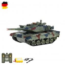 RC ferngesteuerter German Leopard 2 A6 Panzer mit Akku und Sound, Modell mit Kampf-Funktion