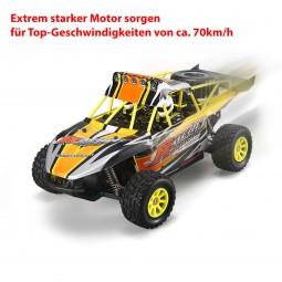 RC ferngesteuertes Off-Road Buggy mit 70km/h, Fahrzeug mit Akku, Monster Truck, Auto Modell 1:18