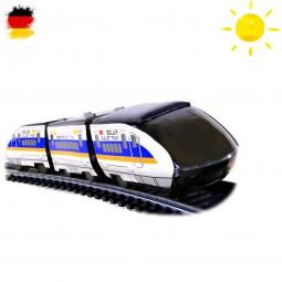 Solarbetriebene Elektrische Eisenbahn, Zug Konstruktions-Bauset mit Sonnenlicht, Kreatives Spielzeug