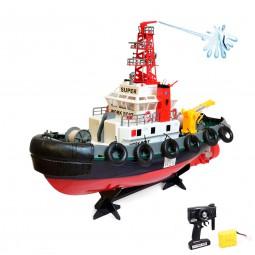RC ferngesteuertes Boot, Hafenschlepper Polizeischiff mit Spritzturm, Schiff Neu