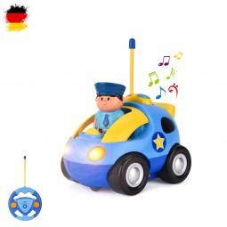 RC ferngesteuertes Mini Polizei-Auto mit Sound und LED,Fahrzeug für Kinder, Modell mit Fernsteuerung