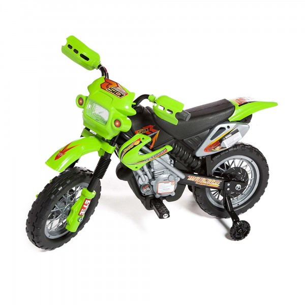 kinder elektromotorrad im motocross stil auto fahrzeug. Black Bedroom Furniture Sets. Home Design Ideas