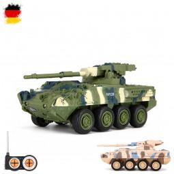 RC ferngesteuerter US M1128 Stryker MGS,Panzer-Modell,Deutsches Militär-Fahrzeug, Modellbau