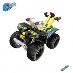Quad aus Bausteinen mit Rückziehfunktion, Auto, Motorrad, Fahrzeug, Modell, Neu