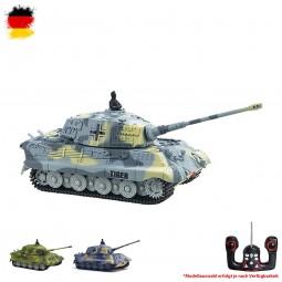 RC ferngesteuerter Deutscher Königstiger Militär Panzer-Modell, King Tiger im 1:72 Maßstab, Tank