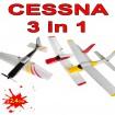 Stunt&Fly 3In1 - 4 Kanal 2.4Ghz Rc R/C Ferngesteuerte Kunstflugzeuge 3In1 Cessna+Redbull+Sr-22!!!! K