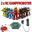 Battle-Set - 2 x RC 2.4GHz ferngesteuerter Kampf-Roboter Modell inkl. Battle-Arena