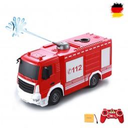 RC ferngesteuerter Feuerwehrwagen mit cooler Wasser-Spritzfunktion, Auto mit Fernsteuerung und Akku
