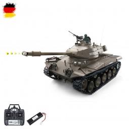 RC ferngesteuerter Bulldog M41A3 Panzer mit Stahlgetriebe, Schuss, Sound, Rauch und Infrarot-Battle