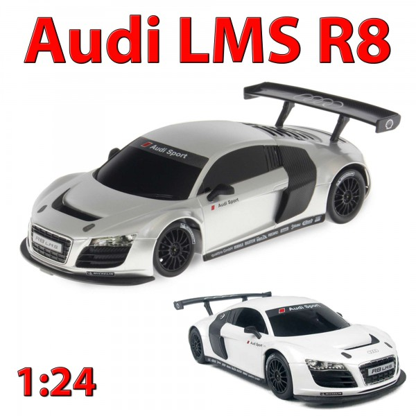 original audi r8 lms rc ferngesteuertes auto pkw modell fahrzeug neu 1 24 rc modellautos. Black Bedroom Furniture Sets. Home Design Ideas
