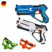 Lasertag-Pistole als Battle-Set mit Masken, Laser, Duellieren, Gun, Modell, Neu