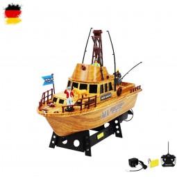 RC ferngesteuertes Fischerboot, Boot, Segel-Schiff, Fisch-Kutter Modell mit Akku und Ladekabel
