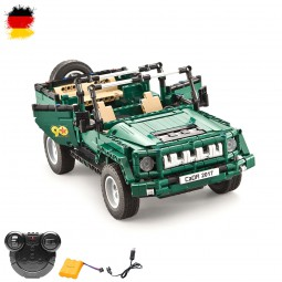 RC ferngesteuerter Militär-Jeep aus Bausteinen mit Fernsteuerung, Fahrzeug, DIY Auto, 2.4GHz-Modell