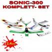 4 Kanal 2.4Ghz 3in1 RC Ferngesteuerte 2.4Ghz Flugzeuge - 3in1 Snap&Fly (Komplett-SET alle 3 Flieger