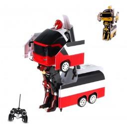 RC ferngesteuerter Roboter-Bus, Transformation per Knopfdruck, Fahrzeug, Neu OVP
