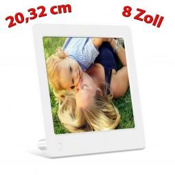 20.32cm (8) Digitaler Bilderrahmen,Fotorahmen Foto,Bilder,Video,Musik
