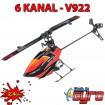 6 Kanal RC ferngesteuerter 3D-Helikopter Hubschrauber Heli-Modell, Neu
