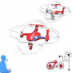 5 Kanal RC Ferngesteuerter Quadcopter mit Sprachsteuerung und Akku, Drohne, Hubschrauber-Modell