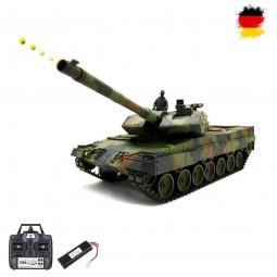RC ferngesteuerter Panzer German Leopard 2A6 mit Metallgetriebe, Fahrzeug mit Schuss, Sound, Rauch