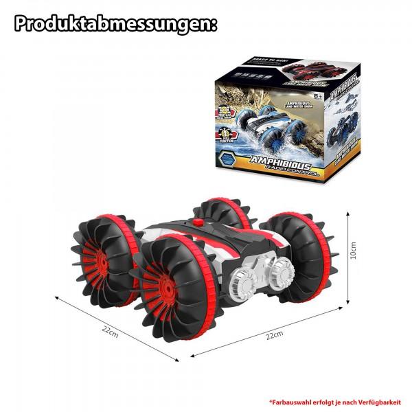 rc ferngesteuertes amphibien fahrzeug f r wasser und land auto mit akku und 2 4ghz. Black Bedroom Furniture Sets. Home Design Ideas
