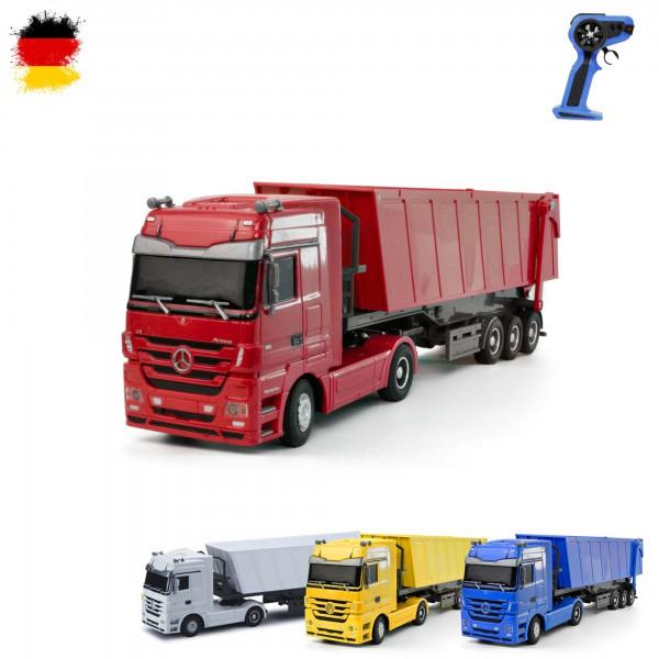 rc ferngesteuerter lkw mit kipper truck fahrzeug auto car 1 32 modellbau rc trucks. Black Bedroom Furniture Sets. Home Design Ideas