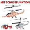 U809 - 3.5 Kanal RC Cobra AH-1 Apache Kampf-Hubschrauber Mit Schussfunktion!