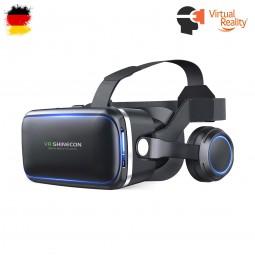 VR-3D Brille mit Stereo-Headset, Virtual Reality für 4,7 bis 6 Zoll Smartphones Samsung, HTC, Huawei